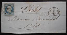 Flers De L'orne 1855 Pc 1286 Sur N°14, Lettre De Busnot Lalande Et Morin Pour Cholet - 1849-1876: Periodo Classico