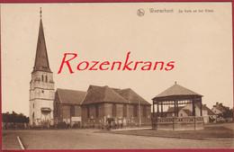 Waerschoot Kerk En Kiosk Waarschoot ZELDZAAM Geanimeerd (In Zeer Goede Staat) - Waarschoot