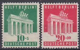 AllBes. Bizone 101-102, Postfrisch **, Berlinhilfe 1948 - American/British Zone