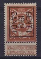 Nr. 109 (3 X) Typo Nrs. 34 , 42 En 51 Allen Type B GENT 1  1912 , 1913 En 1914 GAND 1 ; Staat Zie Scan ! - Typos 1912-14 (Lion)