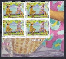 Polynesia 2020 Masqued Vahine Masquee Health COVID19 Coin Daté Corner With Date RARE - Enfermedades