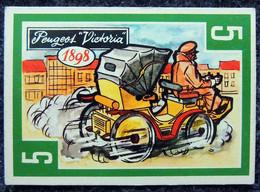 Image Nougat Confiserie Chocolat éditeur IAL Saint-Etienne - Vieilles Autos - N° 5 PEUGEOT VICTORIA 1898 - Otros