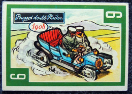 Image Nougat Confiserie Chocolat éditeur IAL Saint-Etienne - Vieilles Autos - N° 6 PEUGEOT DOUBLE PHAËTON 1908 - Otros