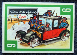 Image Nougat Confiserie Chocolat éditeur IAL Saint-Etienne - Vieilles Autos - N° 9 RENAULT TYPE 07 Taxi De La Marne 1914 - Otros