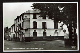 RPPC - Bidford-on-Avon - The White Lion Hotel - 2 Scans - Inglaterra