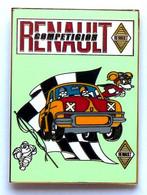 1 PINS RENAULT DAUPHINE GORDINI, MICHELIN, Mesure 5 Cm De Haut  FINITION DORE. - Renault