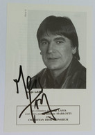 Autographe Serge Lama Spectacle 1990 La FACTURE Par FRANCOISE DORIN - Autografi