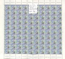 NN - [990025]TB//**/Mnh-NN - Belgique 1968 - N° 1462, SPA, Fontaine, La Feuille De 100 Complète, N° Planche II, Vacances - Plattennummern