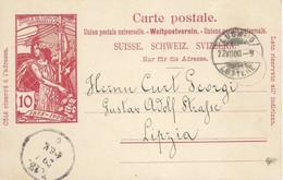 PK 32  UPU  Lugano - Leipzig           1900 - Ganzsachen
