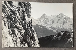 Lauterbrunnen Lobhorn Mit Kletterer/ Fotokarte W. Gabi Wengen - BE Berne