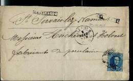Lettre Avec N° 11A  Obl. MIDI 6  1860 + Griffe: CHARLEROY Et Arrivée: Namur: - Linear Postmarks