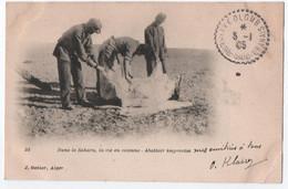 SAHARA : VIE EN COLONNE - ABATTOIR IMPROVISE - AMBULANT POSTAL COLOMB EXTREME SUD ORANAIS - ECRITE EN 1905 - 2 SCANS - - Plaatsen