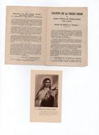 Status De La Pieuse Union  De SAINTE THERESE DE L'ENFANT-JESUS érigée à LISIEUX - Religion & Esotérisme