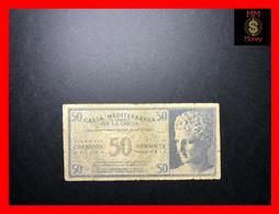 ITALY  GREECE  50 Dracme  1941  Italian Occupation Of Greece   P.  M 3   Fine   [MM-Money] - Ocupación Italiana Egenea