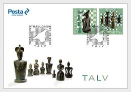 Faroe 2020 Feroe Chess Tradition Entertainment Chessboard Rókurin Rook 2v FDC - Faroe Islands