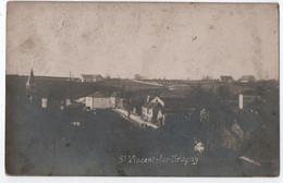 CARTE PHOTO SAINT VINCENT LES BRAGNY (71) : VILLAGE & EGLISE - ECRITE DE SAINT VINCENT EN 1911 PAR M. VITURAT -z R/V Z- - Sonstige Gemeinden