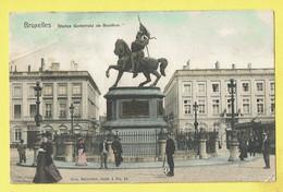 * Brussel - Bruxelles - Brussels * (Nels, Série 1, Nr 54 - Couleur) Statue Godefroid De Bouillon, Statue, Animée, Tram - Bruselas (Ciudad)