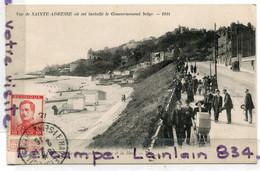 - SAINTE - ADRESSE - La Ou Est Installé Le Gouvernement Belge, 1915, Timbre Texte Au Verso Du Comité Franco.., Scans. - Sainte Adresse