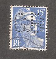 Perforé/perfin/lochung France No 886 G.B Gignoux Frères Et Barbezat - Perforadas
