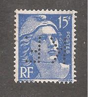 Perforé/perfin/lochung France No 886 K.F. Kettinger Et Fils - Perforadas