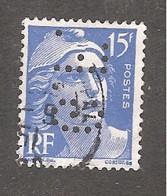 Perforé/perfin/lochung France No 886 G.F Gondrand Frères (61) - Perforadas