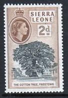 Sierra Leone 1956 Queen Elizabeth II Single 2d Stamp From The Definitive Set. - Sierra Leone (...-1960)