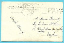 Kaart Naamstempel THOLLEMBEEK Als Noodstempel Gebruikt, Met Stempel PAYE (noodstempel) - Foruna (1919)