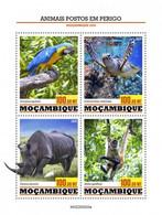 MOZAMBIQUE 2020 - Endangered Parrot. Official Issue [MOZ200203a] - Parrots