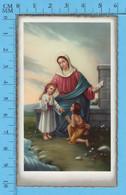 Gold Print  Chromo Litho , Marie , Jesus Et St-Jean Le Baptiste Enfant, Image Pieuse - Imágenes Religiosas
