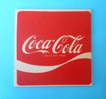 COCA-COLA .... Nice Old And Rare Cardboard Coaster * EXCELLENT CONDITION - Posavasos (Portavasos)