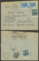 ROMANIA: 6/FE/1940 Deva - Argentina, Registered Cover Franked With 24Lei (stamp Affixed On Back With Defect), Very Nice, - 1918-1948 Ferdinand, Charles II & Michael