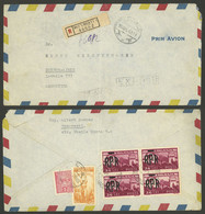 ROMANIA: Registered And Express Airmail Cover Sent From Bucharest To Argentina With Nice Franking On Back, Very Attracti - 1918-1948 Ferdinand, Charles II & Michael