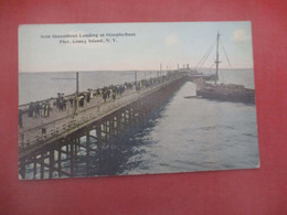 Iron Steamboat Landing At Steeplechase Pier Coney Island   New York City    Ref 4404 - Manhattan