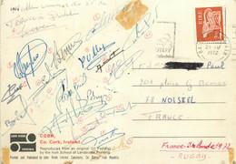Rugby 1972 France - Irlande Equipe De France Carte Postale  Dédicacée Par Les Joueurs - Rugby