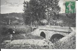 """FOUGAX """" Pont Sur L'hers Entrée Du Pays  Animée""""   N° 1542 - Sin Clasificación"""