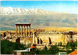 #914   General View Of Baalbek Complex Roman Temple, Ancient Architecture - LEBANON - Image Card - Lebanon