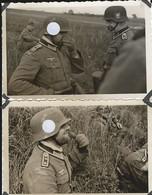 France Belgique 1940: 2 Photos Soldats Allemands - Guerre, Militaire