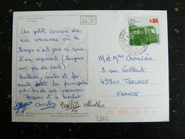 LETTRE PORTUGAL AVEC YT 3362 TROLLEY COIMBRA - - Covers & Documents