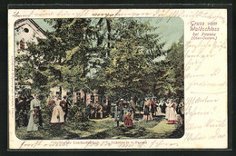 AK Passau, Gasthaus Waldschloss, Gäste Im Garten - Unclassified