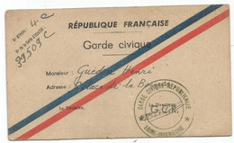 CARTE GARDE CIVILE REPUBLICAIN G.C.R. LOIRE INFERIEURE - Oorlog 1939-45