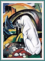 "(436) Künstlerkarte Franz Marc "" Der Hund Vor Der Welt 1912 "" - Paintings"