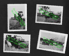 Moisson Moissonneuse Batteuse Agriculture Tracteur Champ  / A étudier ! 4 Photos De Famille Années 30 - Trattori