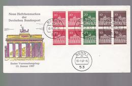 FDC Bonn  Année  1967    Erster Verwendungstag   13 Januar 1967     Neue Heltchenmarken - FDC: Covers