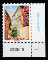 Monaco 2019 : LUXE !!! - N° 3198 - Les Maisons Anciennes (Sepac) - Neuf** - En Coin Daté - - Ungebraucht