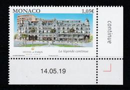 Monaco 2019 : LUXE !!! - N° 3199 - Réouverture De L'Hôtel De Paris - Neuf** - En Coin Daté - - Ungebraucht