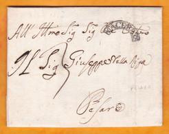 1813 - Lettre Pliée Avec Correspondance De Macerata , Marches Vers Pesaro - Taxe 3 - Cachet à Date Arrivée - 1. ...-1850 Prephilately