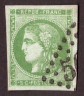 Cérès De Bordeaux N° 42B Vert-jaune - 1er état, 2ème Tirage - Oblitération GC - 1870 Emissione Di Bordeaux