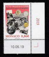 """Monaco 2019 : LUXE !!! - """" XXVIIéme GRANDE BOURSE NUMISMATIQUE ET CARTOPHILE """" - Neuf** - En Coin Daté - - Ungebraucht"""