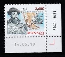 Monaco 2019 : LUXE !!! - N° 3211 - Fernand De Magellan  - Neuf** - En Coin Daté - - Ungebraucht