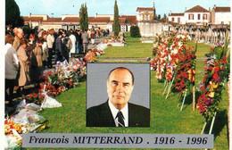 16 - Jarnac - François Mitterand - Président République Socialiste - Rose - Ed Artaud 403 - Jarnac